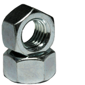 "3/8""-16 Finished Hex Nuts, Grade 2, Coarse, Low Carbon Steel,  Zinc Cr+3 (3000/Bulk Pkg.)"