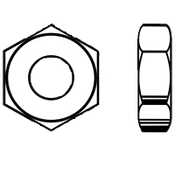 "3/8""-16 Heavy Hex Jam (Thin) Nut A563 Grade A Zinc (100/Pkg.)"