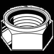 "1""-8 NE (Standard) Nylon-Insert Locknut Grade A Zinc Yellow (100/Bulk Pkg.)"