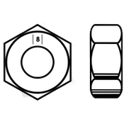 M4-0.70 Hex Nut, Class 8 DIN 934, Zinc-Yellow (20000/Bulk Pkg.)