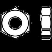 "1""-8 Heavy Hex Jam (Thin) Nut A563 Grade A Zinc (10/Pkg.)"