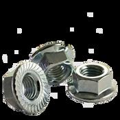 M12-1.75 Class 8 Hex Serrated Flange Nut, Coarse, Zinc Cr+3, DIN 6923/ISO 4161 (100/Pkg.)