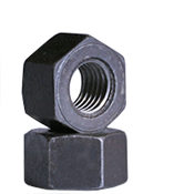 "1 1/8""-8  Heavy Hex Nut, A194/SA194 2H, 8 Pitch, Medium Carbon Steel, Plain (350/Bulk Pkg.)"