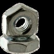 "#6-40x5/16""x7/64"" Hex Machine Screw Nut, Low Carbon Steel, Zinc Cr+3 (100/Pkg.)"