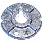 "7/8"" Round Malleable Iron Washers, Zinc Cr+3 (40 Lbs./Bulk Pkg.)"