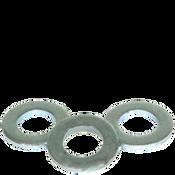 M6 Flat Washers, Narrow, ASME B18.22M, Thru-Hardened Zinc Cr+3 (USA) (14,000/Bulk Pkg.)