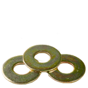 "1-1/4"" USS Flat Washer Zinc Yellow (50 LBS/Bulk Pkg.)"
