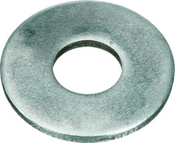 #10 SAE Flat Washers Low Carbon Zinc Cr+3 (100 /Pkg.)