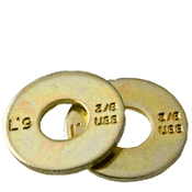 "9/16"" L-9 USS Tension Flat Washer Alloy Zinc-Yellow Cr+3 (U.S.A.) (50/Pkg.)"