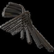 13 Pc Set Metal Box .050-3/8 Short Arm Hex Key Sets Alloy 8650 (USA) (10/Bulk Pkg.)