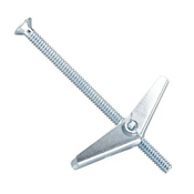 "3/16""-24x4"" Flat Slotted Toggle Bolt Zinc (100/Pkg.)"