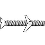 "1/4""-20x3"" Flat Slotted Toggle Bolt  Zinc (50/Pkg.)"