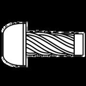 "#4x1/4"" Round U-Drive Anchor Zinc (100/Pkg.)"