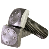 "1/4""-20x3"" Partially Threaded A307 Grade A Square Head Bolt Zinc Cr+3 (900/Bulk Pkg.)"