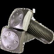 """1/2""""-13x2-1/2"""" Partially Threaded A307 Grade A Square Head Bolt Zinc Cr+3 (325/Bulk Pkg.)"""
