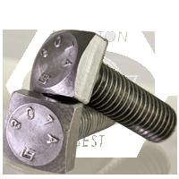 Square Head Bolt HDG FT 3,600//Bulk Pkg. 1//4 inch-20x1 inch