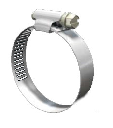 Pack of 4 Stainless Steel Hose Clamp Worm-Drive SAE Size 8, 1//2 to 7//8