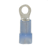 16-14 AWG Nylon Insulated #4-6 Stud Slim Ring Terminal