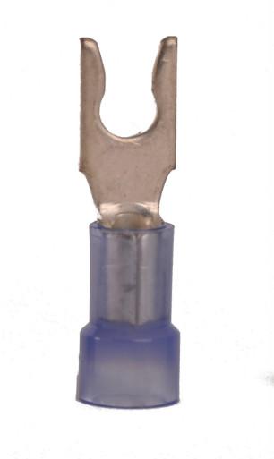 16-14 AWG Nylon Insulated #6 Snap Spade Terminal