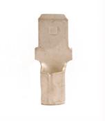 12-10 AWG Non-Insulated .250 Male Quick Disconnect - Brazed Seam (100/Pkg.)