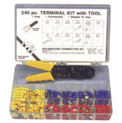 240 pc Vinyl Terminal Kit W/Crimper Tool