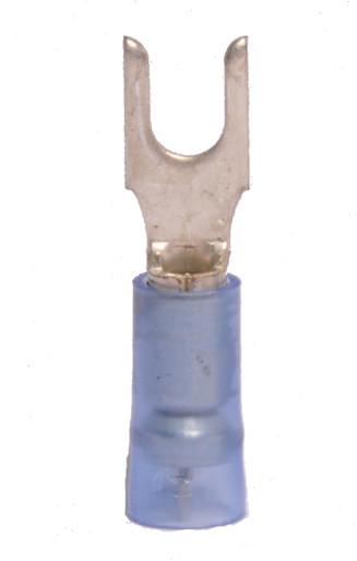 16-14 AWG 3-pc Nylon Insulated w/Sleeve #6 Block Spade Terminal