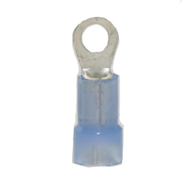 """16-14 AWG Nylon Insulated 1/2"""" Stud Ring Terminal"""