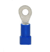 "16-14 AWG Vinyl Insulated 1/4"" Stud Slim Ring Terminal - Short"