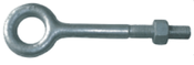 "1/4""x1-1/2"" Plain Pattern Nut Eye Bolt, Hot Dipped Galvanized (100/Pkg.)"
