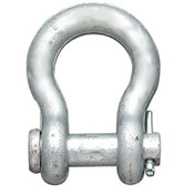 "1""x1-1/8"" Round Pin Anchor Shackles, Hot Dipped Galvanized (10/Pkg)"