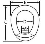 """3/4""""-10 Eye Nuts, 304 Stainless Steel (4/Pkg)"""