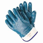 Predator Blue Nitrile Coated Gloves, Rough Finish, Large (12 Pair)