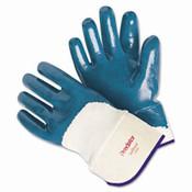 Predator Blue Nitrile Coated Gloves, Smooth Finish, Large (12 Pair)