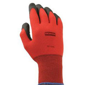 NorthFlex Red Foamed PVC Gloves, Red/Black, Size 7 (Small) (12 Pair)