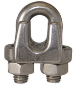 "1/8"" Wire Rope Clip, Stainless Steel (75/Pkg)"