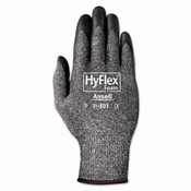 HyFlex Foam Gloves, Dark Gray/Black, Size 8 (12 Pair)