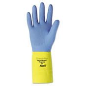 Chemi-Pro Neoprene Gloves, Blue/Yellow, Size 10 (12 Pair)