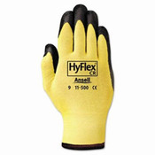 HyFlex Ultra Lightweight Assembly Gloves, Black/Yellow, Size 10 (12 Pair)