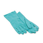 Nitrile Flock-Lined Gloves, Large, Green, (12 Pair)
