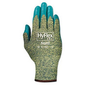 HyFlex Medium-Duty Assembly Gloves, Gray/Green, Size 10 (12 Pair)