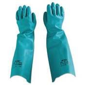 Sol-Vex Sandpatch-Grip Nitrile Gloves, Unlined, Green, Size 7 (1 Pair)