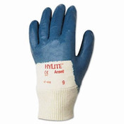 Hylite Medium-Duty Multipurpose Gloves, Size 10, Cotton/Nitrile, Blue/White (12 Pair)
