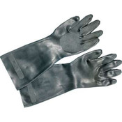 Neoprene Flock-Lined Gloves, Long-Sleeved, Large, Black (12 Pair)