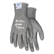 Ninja Force Polyurethane Coated Safety Gloves, Medium, Gray (1 Pair)