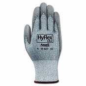 HyFlex Foam Gloves, White/Gray, Size 9 (12 Pair)