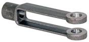"""5/18""""-11 Left Hand Forged Adjustable Yoke Ends (15/Pkg)"""