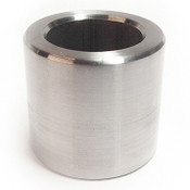 "1/4"" OD x 1/2"" L x #4 Hole Stainless Steel Round Spacer (250/Pkg.)"