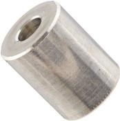 """1/4"""" OD x 1/4"""" L x #4 Hole Aluminum Round Spacer (500/Pkg.)"""