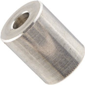 """3/16"""" OD x 1"""" L x #4 Hole Aluminum Round Spacer (500/Pkg.)"""
