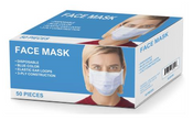 3-Ply Pleated Disposable Face Mask, with Ear-Loop (50/Box) - OUT OF STOCK